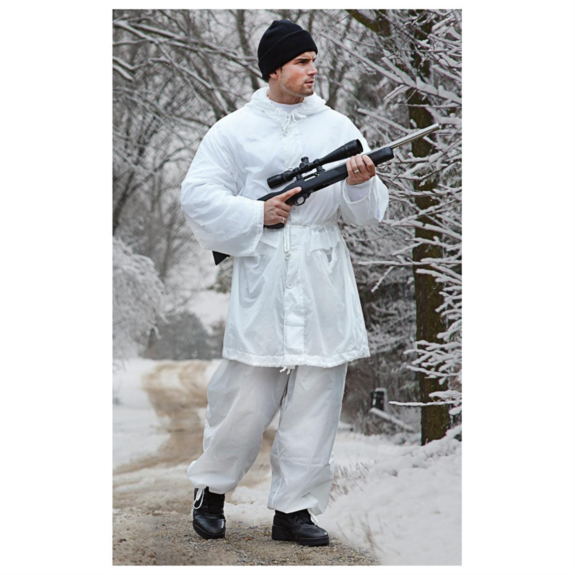 British Army Snow Camo Over Smock And Trousers Forest