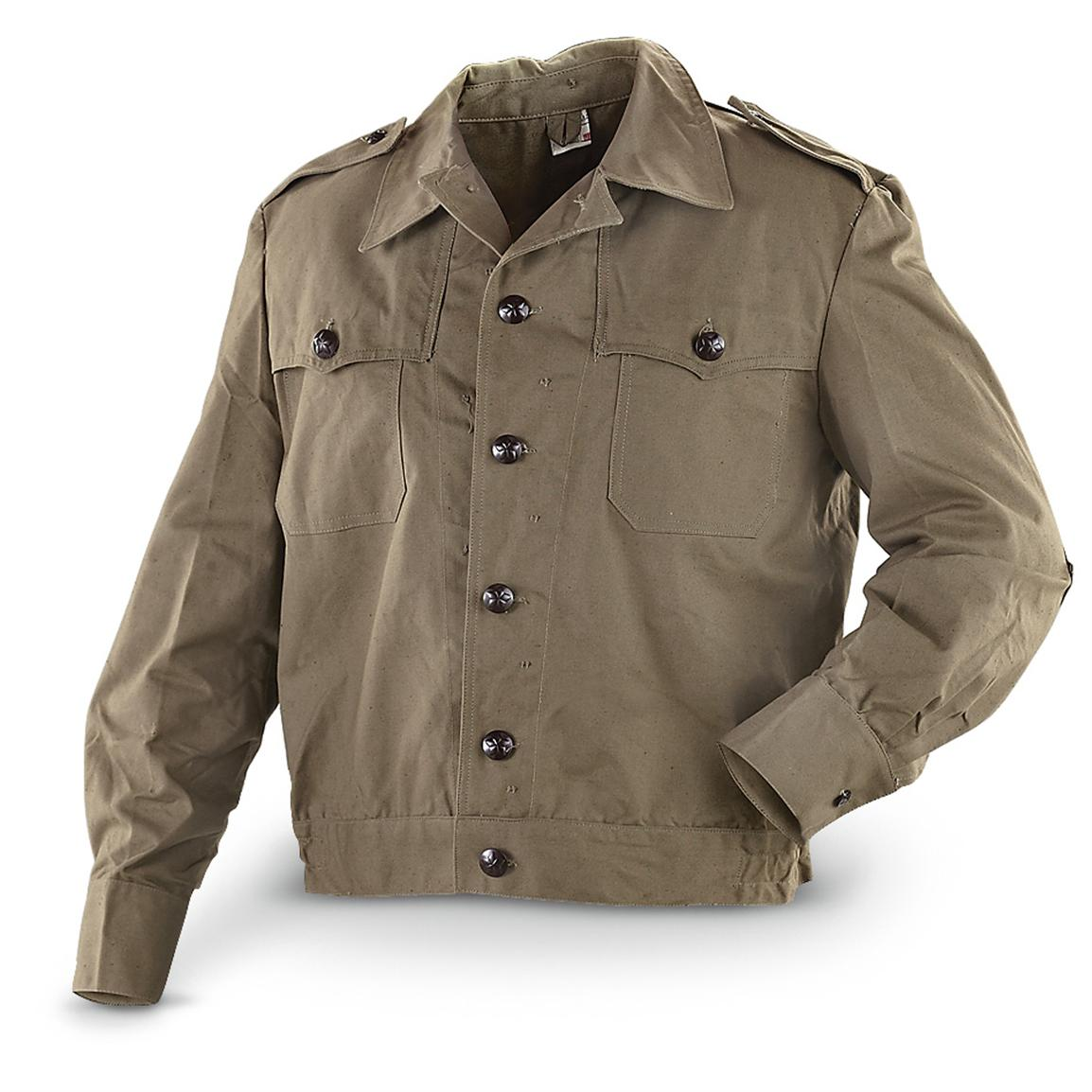 Bulgarian Canvas Jeep Jacket Forest Army Surplus