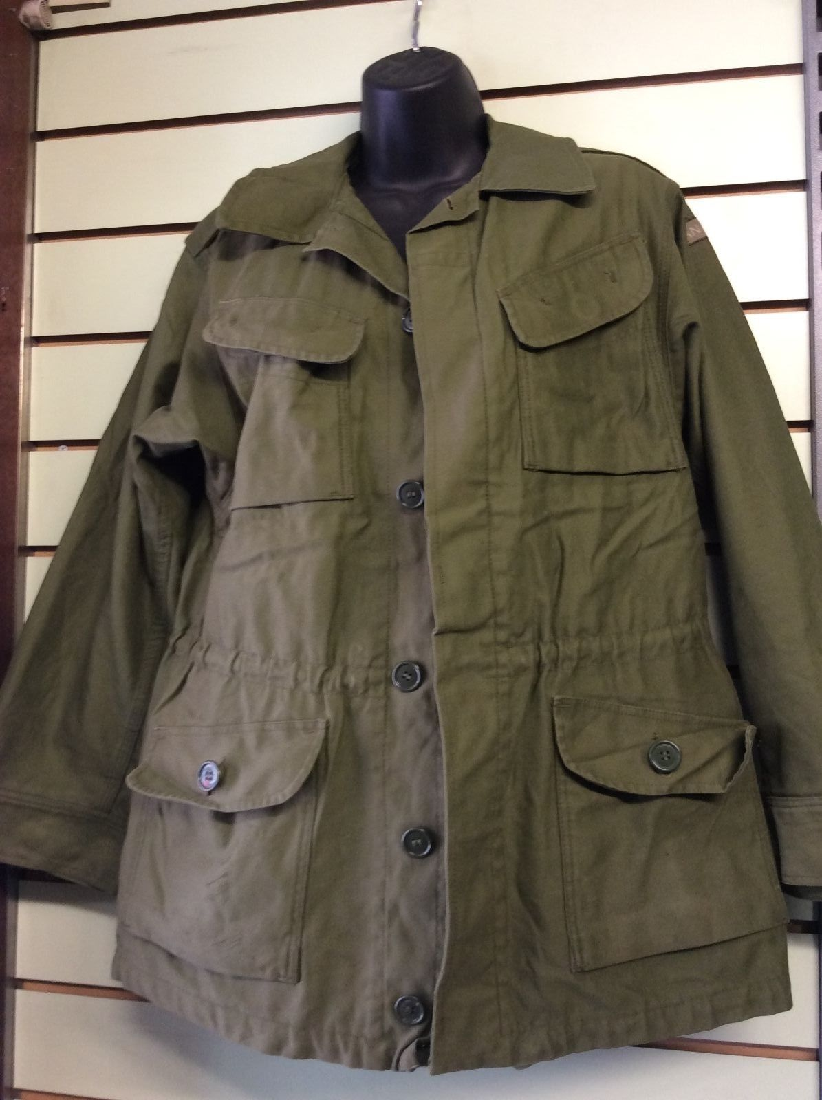 Danish Army Olive Green Combat Jacket Forest Army